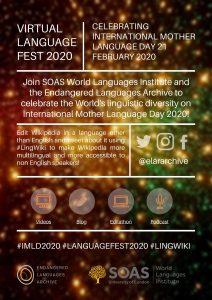 Language Fest 2020 Programme